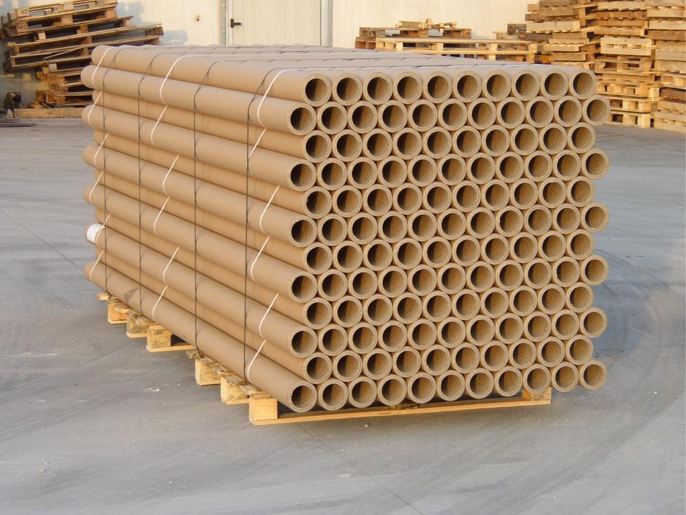 Anime e tubi di cartone industriale